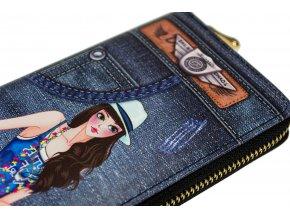 Peněženka Džínová Dívka v Modrých Šatech