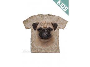 Tričko s potiskem štěnátka puga - Dětské