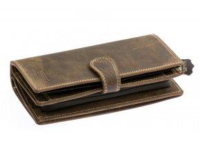 Pánská velká peněženka - tmavě hnědá