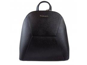 Luxusní dámský batoh Flora & Co - černý - s prošitím vpředu