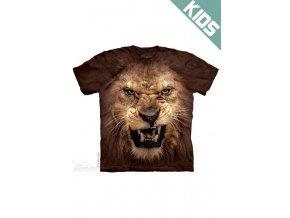 Tričko s potiskem lva - Dětské