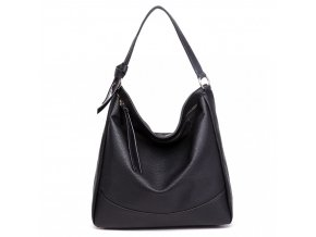 Středně velká Miss Lulu taška na rameno - černá