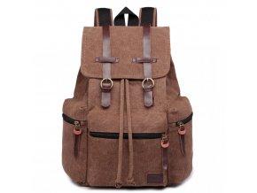 Velký outdoorový multifunkční pánský batoh Kono - kávový