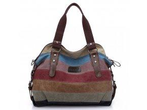 KONO dámska outdoorová kabelka duhová Canvas