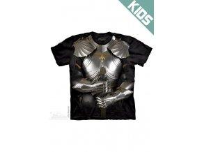 Tričko s potiskem rytíř brnění - Dětské