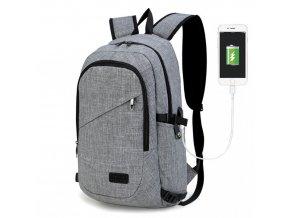 Chytrý batoh nové generace s USB portem - šedý