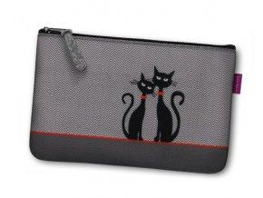Kosmetická eko taška Dvě kočky
