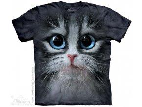 Tričko s potiskem hlava kotě - Dětské
