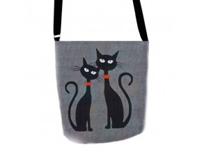 Filcová Eko kabelka Funky - Dvě kočky