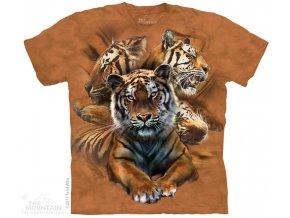 Dětské Tričko Odočívající Tygři