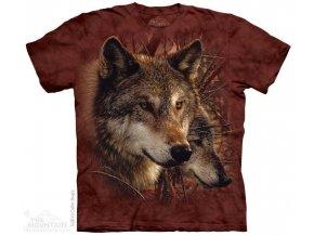 Tričko s potiskem vlci v lese - 2017