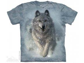 Tričko s potiskem vlčí  sněžný pluh - Dětské