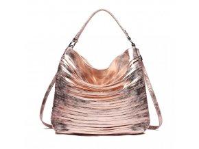 Elegantní stylová dámská kabelka s proužky na rameno - zlatá