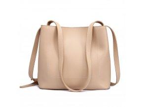 Praktická kabelka na rameno - béžová