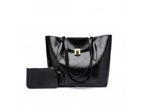 Elegantní dámská kabelka s peněženkou - černá