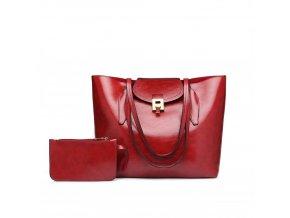 Elegantní dámská kabelka s peněženkou - červená