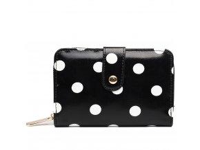 Dámská peněženka - černá puntík - malá