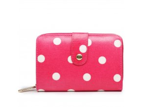 Dámská peněženka - růžová  puntík - malá