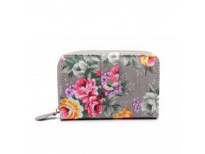 Dámská peněženka - šedá růže - malá