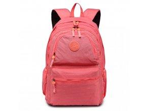 Školní batoh - korálová červená