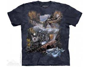 Tričko s lokomotivou a vesnicí - Silver Belle Run