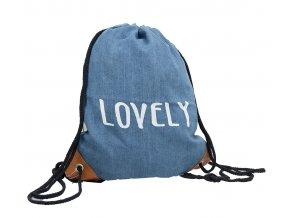 Vak na záda džínový - Lovely