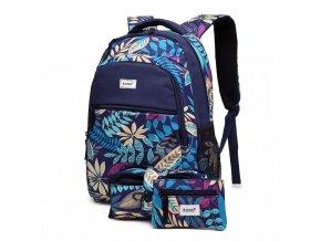 Školní batoh - Paradise - modrý - s penálem a peněženkou
