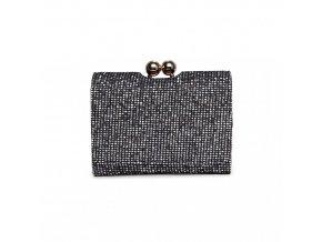 Roztomilá třpytivá peněženka - černá
