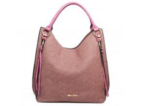 Elegantní kabelka na rameno - texturovaná kůže - fialová
