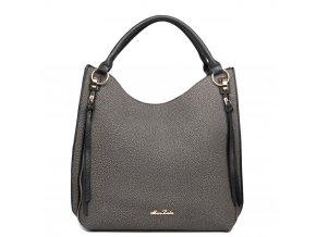 Elegantní kabelka na rameno - texturovaná kůže - černá