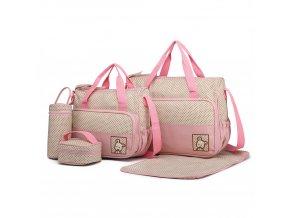 Sada Mateřských tašek a doplňků - 5 kusů - Růžová