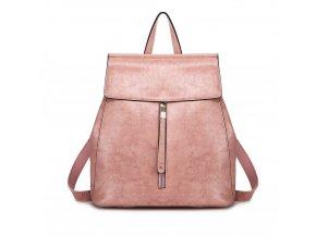 Dámský elegantný batoh ve stylu vintage - starorůžový