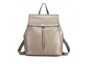 Dámský elegantný batoh ve stylu vintage - šedý