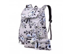 Školní batoh - Rose - s peněženkou a penálem - šedý