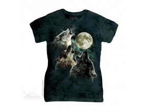 Tričko Vlci a měsíc - Dámské