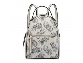 Dizajnový batoh Tropic Ananas - bílý