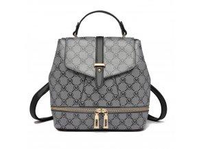 Dizajnový dámský batoh Disegno - černo-šedý