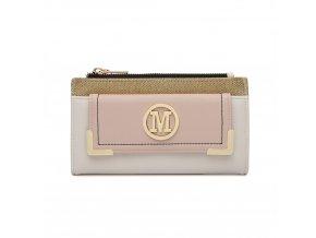 Luxusní dámská peněženka Melinda - bílo -béžová