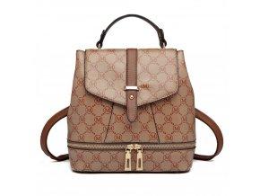 Dizajnový dámský batoh Disegno - hnědý