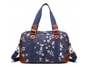 Malá cestovní taška - Navy - Ptáčky