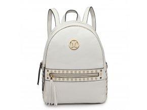 Stylový dámský batoh Melinda - bílý