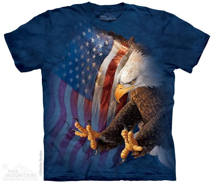 The Mountain Tričko Orel s USA vlajkou Velikost: S