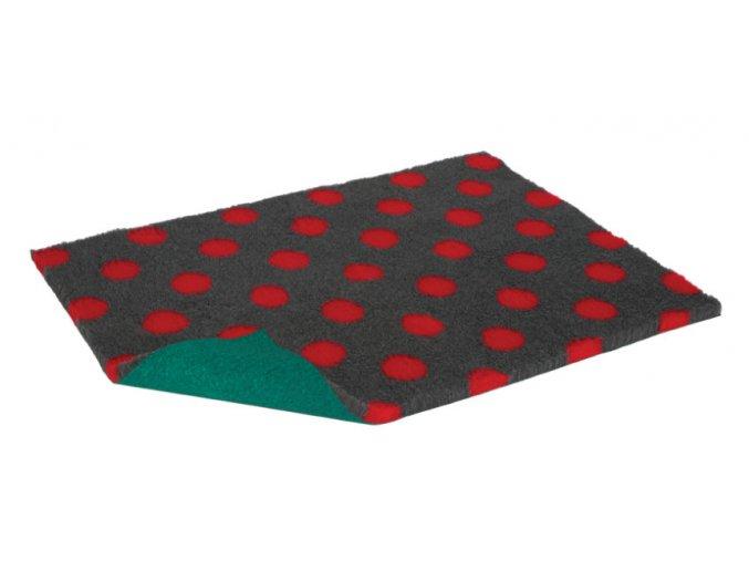VetBed antracitová červené bodky