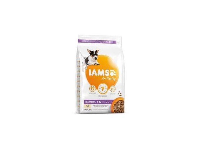 Iams Dog Puppy Small&Medium Chicken
