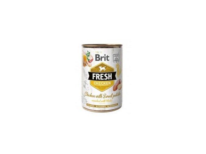 Brit Fresh Dog konz Chicken with Sweet Potato 400g