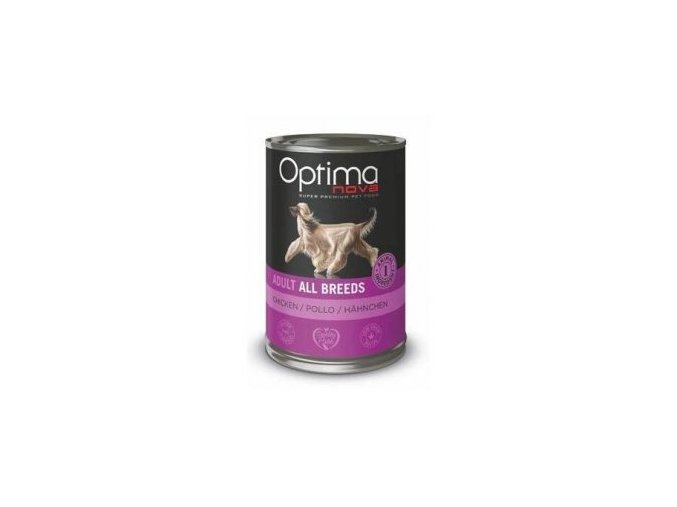 Optima Nova Dog Chicken konzerva 400g