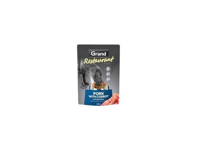 GRAND kaps. deluxe pes Restaur. vepřov, mrkv 300g
