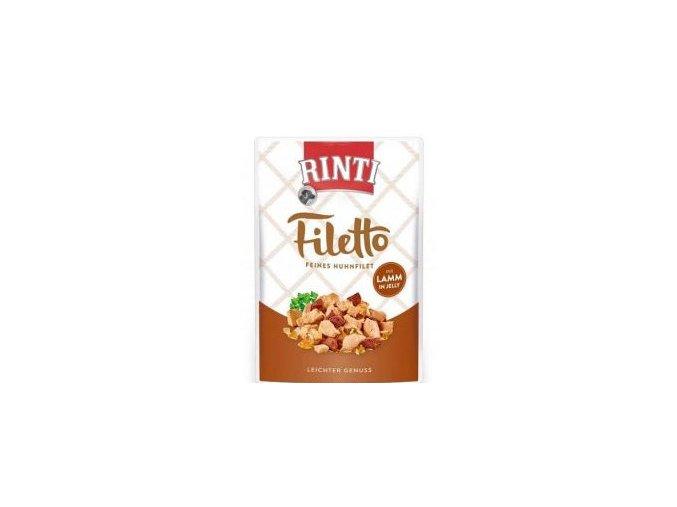 Rinti Dog Filetto kapsa kuře+jehně v želé 100g