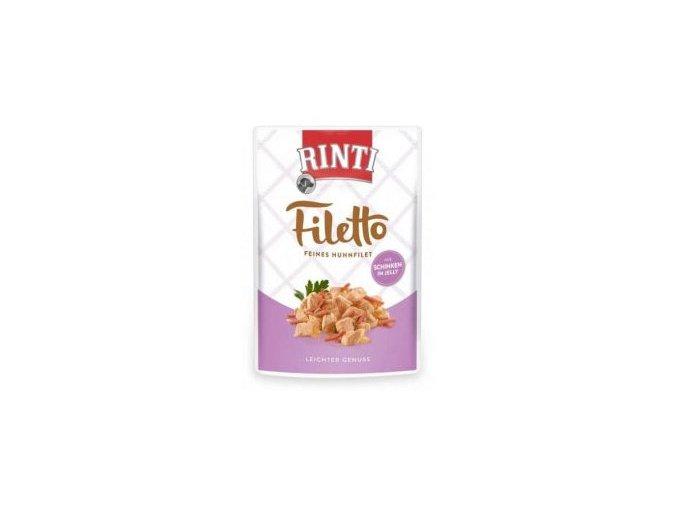 Rinti Dog Filetto kapsa kuře+šunka v želé 100g