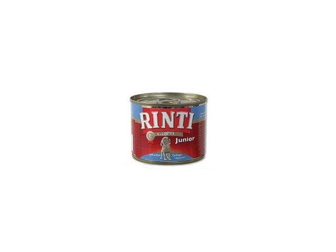 Rinti Dog Gold Junior konzerva drůbež 185g